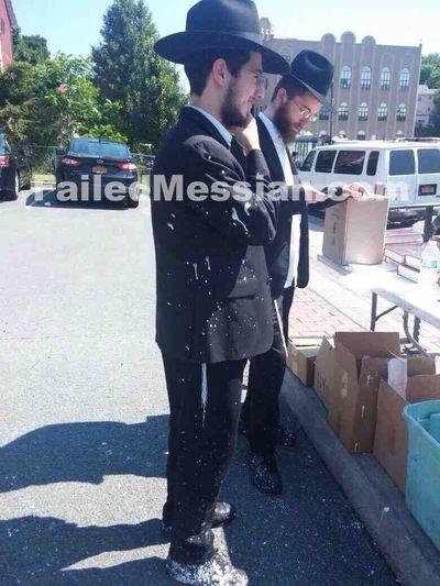 Chabad KJ paint on coat 7-6-2015 2