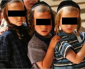 Haredi kids eyes covered cropped