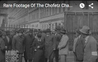 Rare video of Chofetz Chaim screenshot