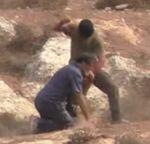 Masked Jewish Settler attacks Rabbi Arik Ascherman with stones knife near Ithamar West Bank 10-23-2015