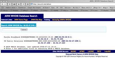 Arin Ip 64.52.47.210
