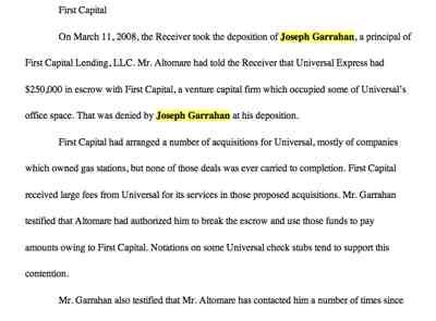 Garrahan 1St Capital Principal Court Filing