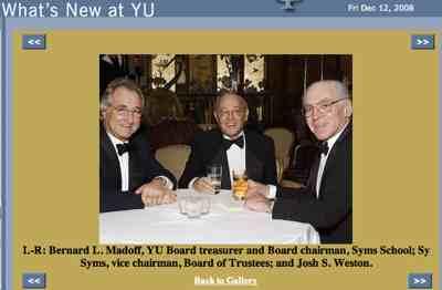 Madoff, Syms, Weston Yu