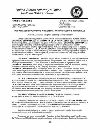 Postville Crim Charges 7-03-08