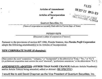 Quantam Chapman Reinstatement