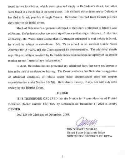 Rubashkin Judge's New Order For Detention 12-21-08 3