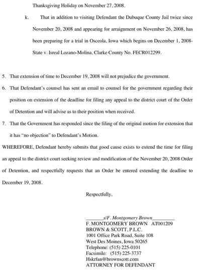 Rubashkin Motion To Delay Appeal Of Bail Denial 4