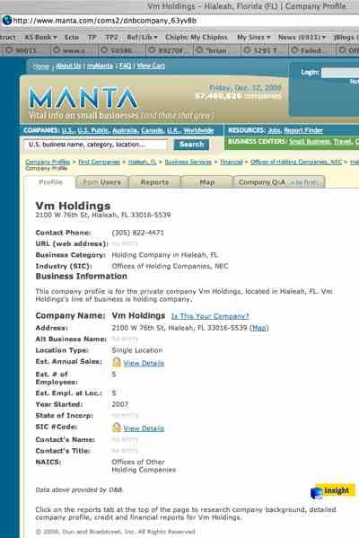 Vm Holdings (Marxx Theresiais)